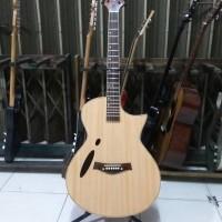 harga Gitar Akustik Elektrik Tuner Hollow ASR Natural Tokopedia.com