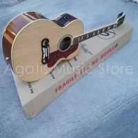 Gitar Akustik elektrik custom j200 natural fishman clearwave60