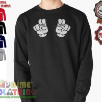 Sweater / Sweatershirt Mickey Mouse Hand Air Quotes
