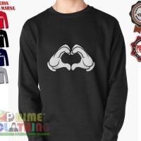 Sweater / Sweatershirt Mickey Mouse Hand Heart Love