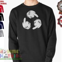 Sweater / Sweatershirt Mickey Mouse Hand Circle Fuck