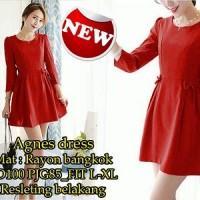 Agnes Dress SW Pakaian baju busana gaun wanita