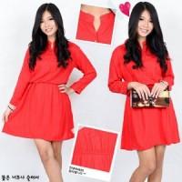 Dress Misty Merah SW Pakaian baju busana gaun wanita