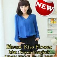 Blouse Kiss Flower SW Pakaian baju busana blus atasan wanita