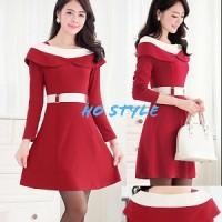 dress cherry HO Pakaian baju busana gaun wanita