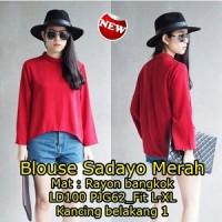 Blouse Sadayo Merah SW Pakaian baju busana blus atasan wanita