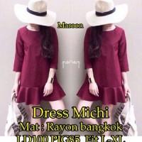 Dress Michi SW Pakaian baju busana gaun wanita