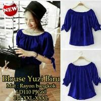 Blouse Yuzi Biru SW Pakaian baju busana blus atasan wanita