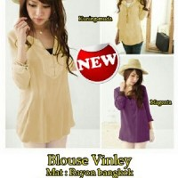 Blouse Vinley SW Pakaian baju busana blus atasan wanita