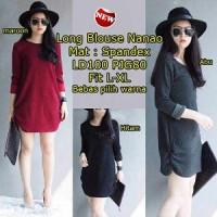 Long Blouse Nanao SW Pakaian baju busana blus atasan wanita