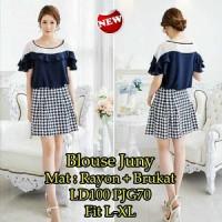 Blouse Juny SW Pakaian baju busana blus atasan wanita