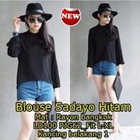 Blouse Sadayo Hitam SW Pakaian baju busana blus atasan wanita