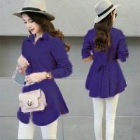 Blouse Xiaomi purple HO Pakaian baju busana blus atasan wanita