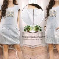 dress olive YR Pakaian baju busana gaun wanita