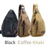 tas selempang slempang waist bag sling bag backpack kanvas pria cowok