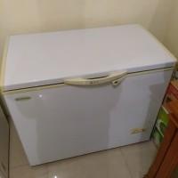 freezer sansio 218f / chest freezer / freezer bekas