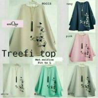 Treefi Top - Busana Muslim - Baju Atasan Wanita - Blouse Tunik Drees