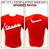 harga Kaos Spandex Merah Vespa Font Reggae Rasta Baju Distro Shirt Spandek Tokopedia.com