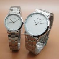 Jam Tangan Couple / Sepasang Guess Couple Gr5119 Rantai(3 Warna) Terla