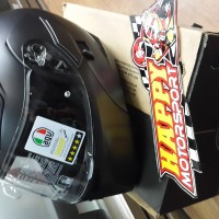 Helm modular AGV Compact hitam doff XL