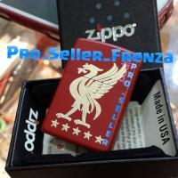Zippo SuperPremium Custom Grafir Logo Liverpool...! Gratis Req Nama!
