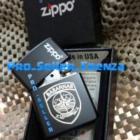 Zippo SuperPremium Custom Logo BASARNAS + Gratis Request Nama!!