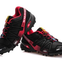 harga Sepatu Salomon SpeedCroos3 Low Black Red (sport,trainers,tracking,ket) Tokopedia.com