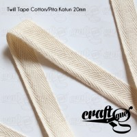 Twill Tape Cotton/Pita Katun/Tali Tas Katun Tipis 20mm