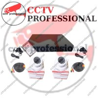 Paket Camera Cctv Ekonomi 4 Channel 2 Camera indoor Lengkap Harddisk