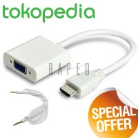 Kabel HDMI to VGA Female Adapter with Audio