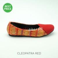 harga Sepatu etnik, batik, tenun / flat shoes wanita - Cleopatra Red Tokopedia.com