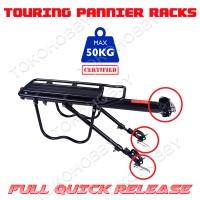harga Rak Pannier Touring Quick Release Tokopedia.com