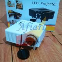 Mini Proyektor 400 Lumens LED Projector Bonus Kabel HDMI