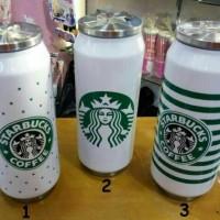 TERMOS STAINLES STARBUCKS 500ml / TERMOS KALENG STARBUCK 500 ml White