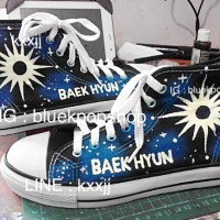 Sepatu Custom Kpop EXO BAEKHYUN Power Logo