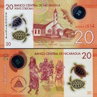 harga Uang Koleksi Nicaragua 20 Cordobas 2014-15 New Polymer Unc Tokopedia.com