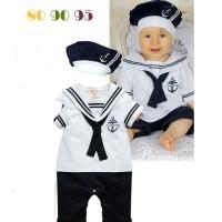 harga Kostum Captain Pelaut anak Baby set sama topi Tokopedia.com