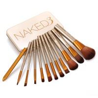 NAKED 3 brush kaleng 12 in 1/ Make up brush set naked 3