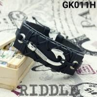 Hook Leather Bracelet   GK011H   Hitam