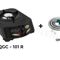 Jual Kompor Gas Quantum 1 Tungku QGC 101 R dan Selang Regulator QRL 032 Murah