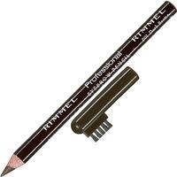 eyebrow pencil professional rimmel dark brown n black brown