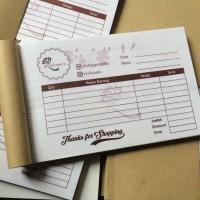 HARGA PROMO - Custom Nota / Invoice 2 ply Uk. 10 x 16 - Free Design