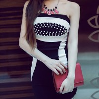 DRESS FASHIONS IMPORT gaun pesta wanita hitam baju black dres import
