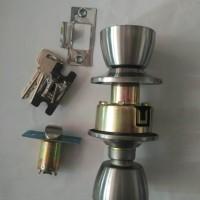 harga kunci pintu kamar mandi wc bulat/pintu pvc Tokopedia.com