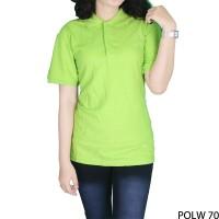 Kaos Polo Wanita 100% Cotton Pique Hijau Stabilo POLW 70