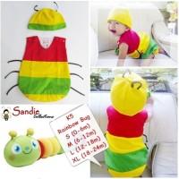 Jual Baju Bayi Lucu Rainbow Bug Murah