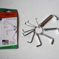 Kunci L 10 Pcs Set Hex Key Tools Carbon Steel - FUKUDA