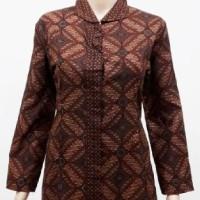 Blouse Atasan Baju Atasan Seragam Batik Wanita 1752 Kawung