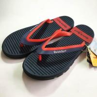 Onemarkets Sandal Jepit Pria / Sandal Santai Cowok D - Navy Merah