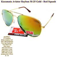 kacamata unisex aviator rayban M-25 red squash fullset